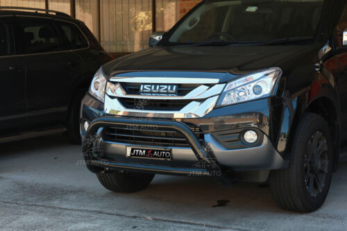 To suit Isuzu MUX MU-X Nudge Bar Black Grille Guard 2013-2020