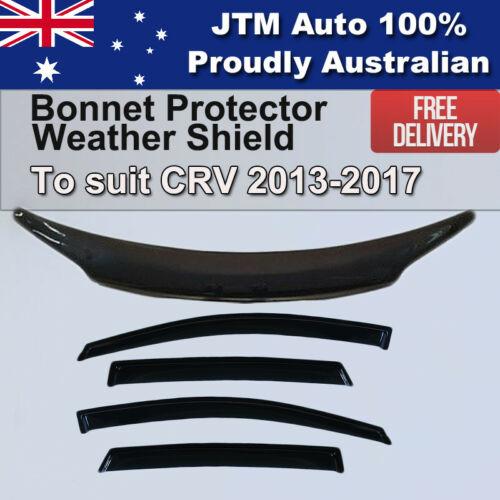Bonnet Protector + Weathershields to suit Honda CRV 2012-2017