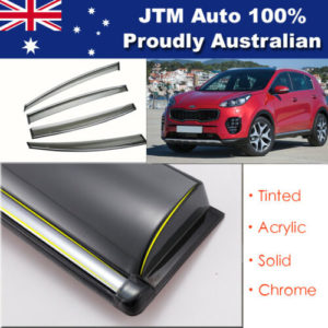INJ Chrome Weather Shield Weathershield Window Visor for Kia Sportage QL 2016+