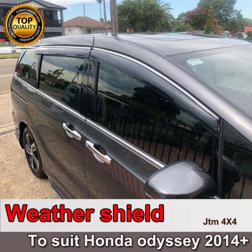 INJ Chrome Weather Shield Weathershield Window Visor for Honda Odyssey 2013+