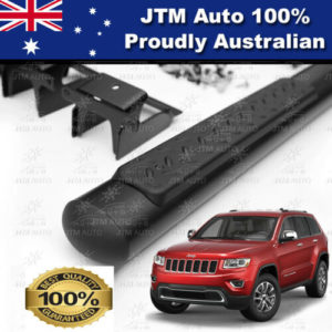 "Black 4"" Running Boards Side Steps to suit Jeep Grand Cherokee 2011-2020"