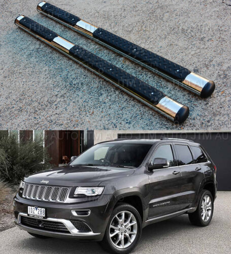 "OEM Style 4"" Stainless Steel Side Steps Boards for Jeep Grand Cherokee 2011-2020"