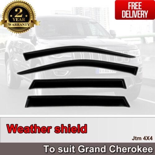 Premium Weather Shield Weathershields Window Visor For Jeep Grand Cherokee 2010+