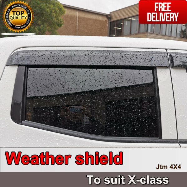 Weather Shield Window Visors weathershield for Mercedes-Benz X-class 2018+