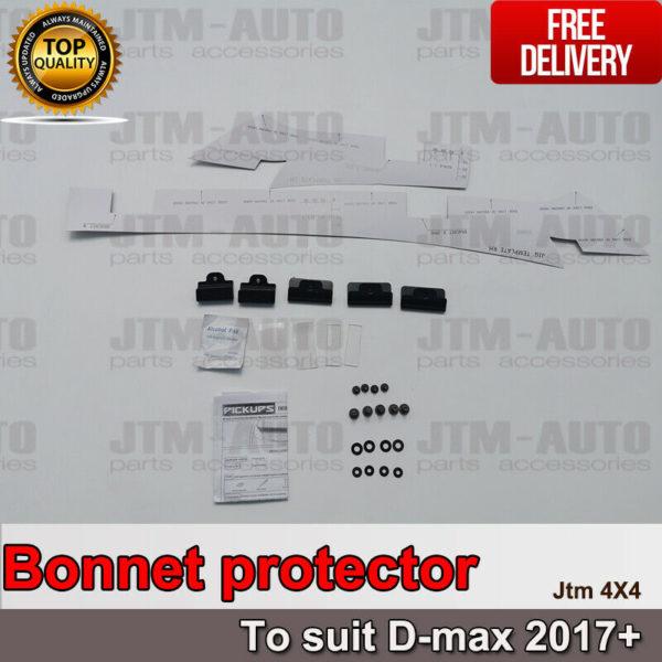 Bonnet Protector Guard + Weather Shields Visor for ISUZU D-max Dmax 2017-2020