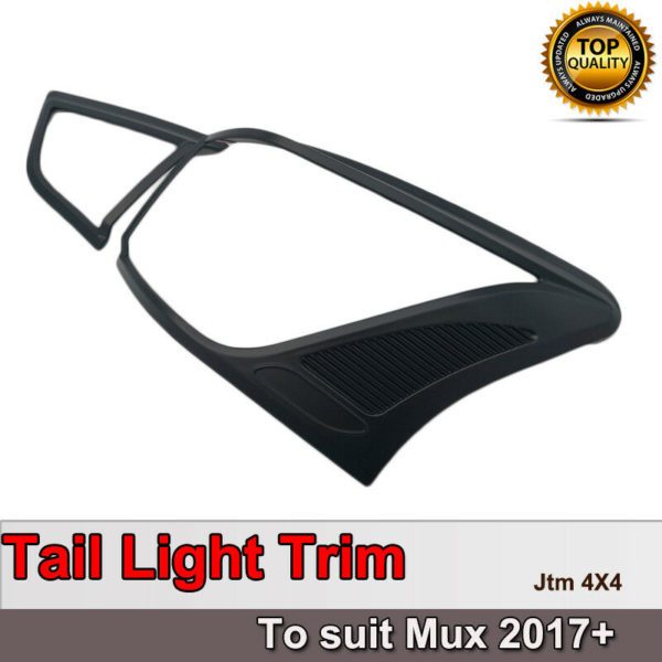 Black Tail Light Cover Protector Trim to suit Isuzu Mux MU-X 2017+