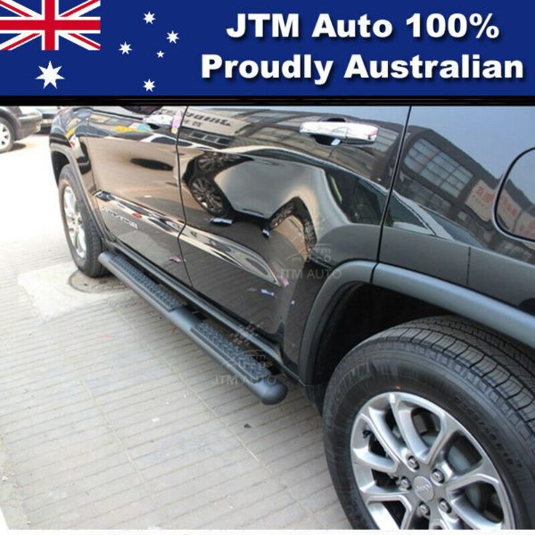 """Black 4"""" Running Boards Side Steps to suit Jeep Grand Cherokee 2011-2020"""