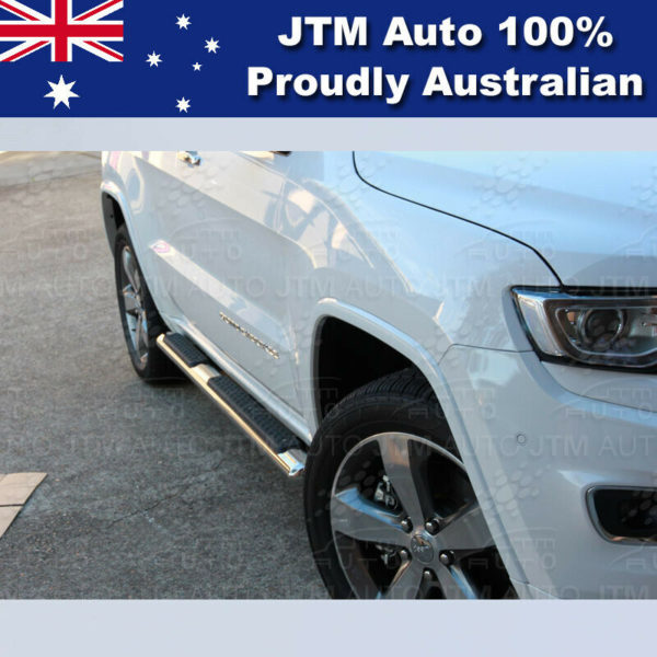 """Running Boards Side Steps 4"""" Stainless Steel suit Jeep Grand Cherokee 2011-2020"""
