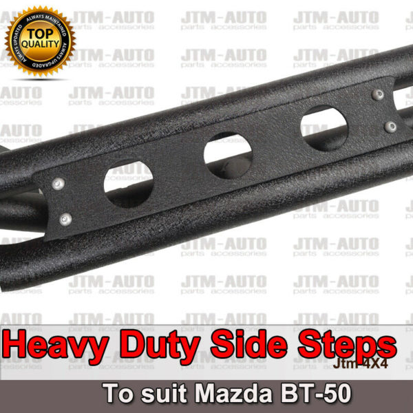 Heavy Duty Armor Steel Off road Side Steps suit Mazda BT-50 BT50 2012-2020