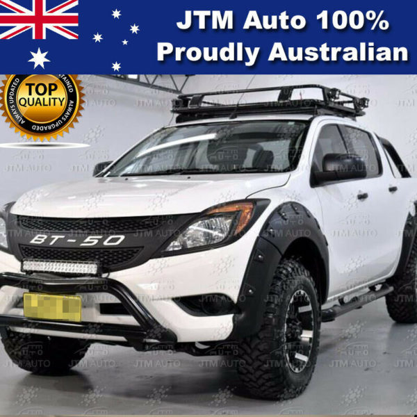 MATT Black Head Light Cover Protector Trim to suit Mazda BT-50 BT50 2012-2019