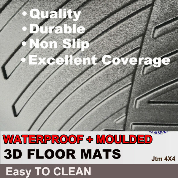 3D TPO Floor Mats Waterproof to suit Isuzu D-max Dmax 2012-2019