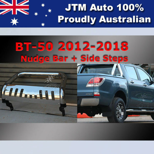 Side Steps + Nudge Bar Stainless Steel to suit Mazda BT-50 2012-2020