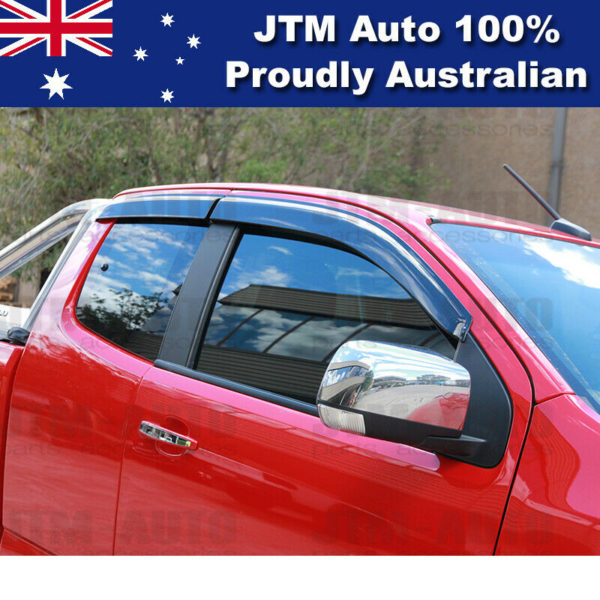Bonnet Protector + Weather Shields Visor for Holden Colorado Space Cab 2016-2020