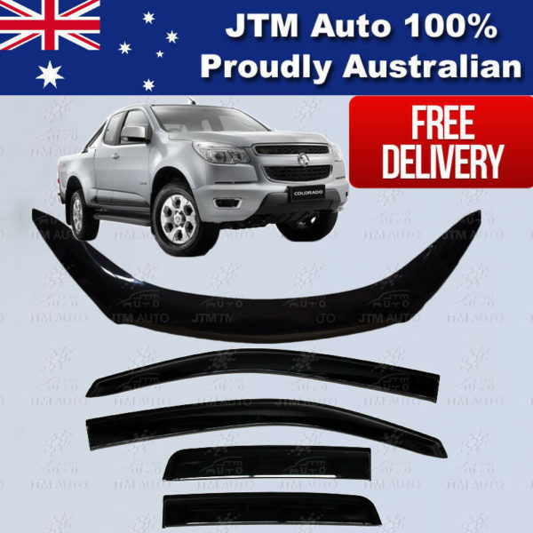 Holden Colorado Extra/Super Cab Bonnet Protector + Weather Shields 2012-2016