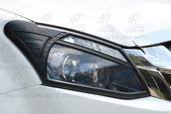 Premium Isuzu D-max DMAX MATT Black Head Light Trim Cover 2012-2016