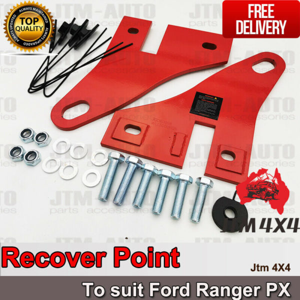 Recovery Tow Point Kit 12mm 5 Tonne Hitch to suit Ford Ranger PX 2012-2020