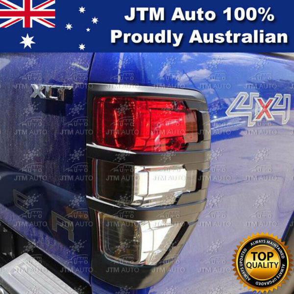 Black Tail Light Trim Cover Suits Ford Ranger PX PX2 PX3 2012-2021
