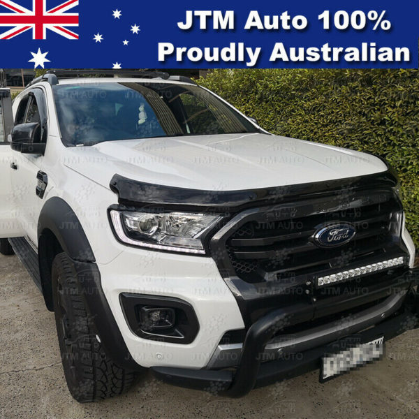 MATT Black Head Light Trim Cover Protector to suit Ford Ranger PX3 2018-2019