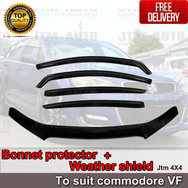 Bonnet Protector Guard + Weather Shields Visor to suit Holden Commodore VF 13-17