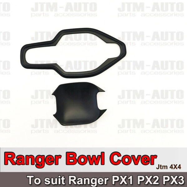 Black Handle Bowl Cover Protectors to suit Ford Ranger PX 2012-2020