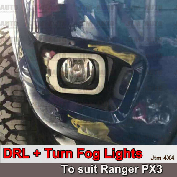 Daytime Running Lights DRL with Turn Indicator to suit Ford Ranger PX3 T8 2018+