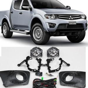 Driving/ Fog Lights Lamps Complete Kit Suits Mitsubishi Triton 2009-2014