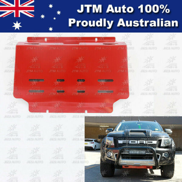 Bash Plate Front Sump Guard Red Protection to suit Ford Ranger 2012-2019