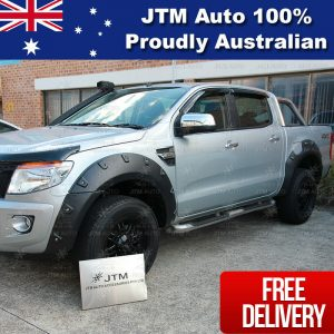 Wrinkle Black Fender Flares Wheel Arch Pocket Style to suit Ford Ranger PX 12-15