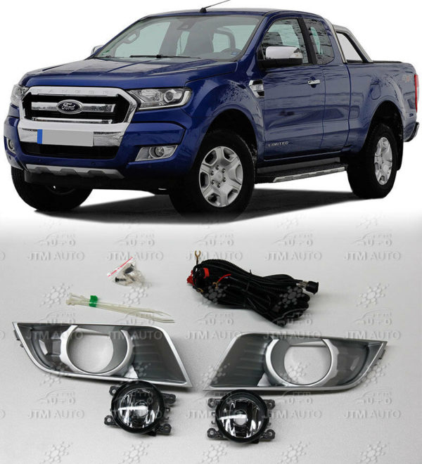 Driving/Fog Lights Lamps Complete Kit to suit Ford PX Ranger 2015-2017
