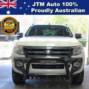 "Matt Black Nudge Bar 3"" Grille Guard to suit Ford Ranger T6 T7 PX 2012-2018"