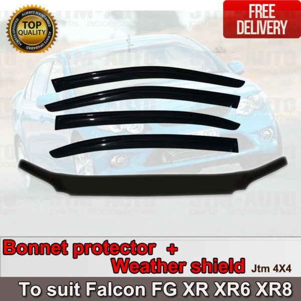 Bonnet Protector + Weather shield to suit Ford FG  Falcon XR XR6 XR8 2008-2014