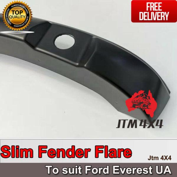 Slim Matte Black Fender Flares Wheel Arch to suit Ford Everest UA 2015-2018