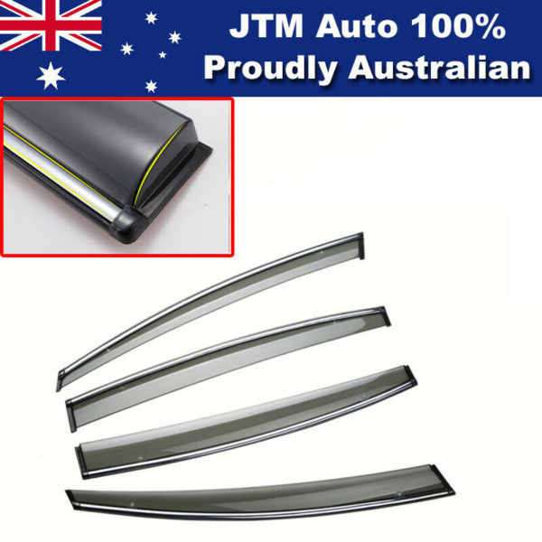 INJ Chrome Weather Shield Weathershield Window Visor For Ford Mondeo MD 14-19