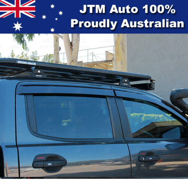 Weathershields Window Visors Weather Shields For Ford Ranger Dual Cab 2012-2021
