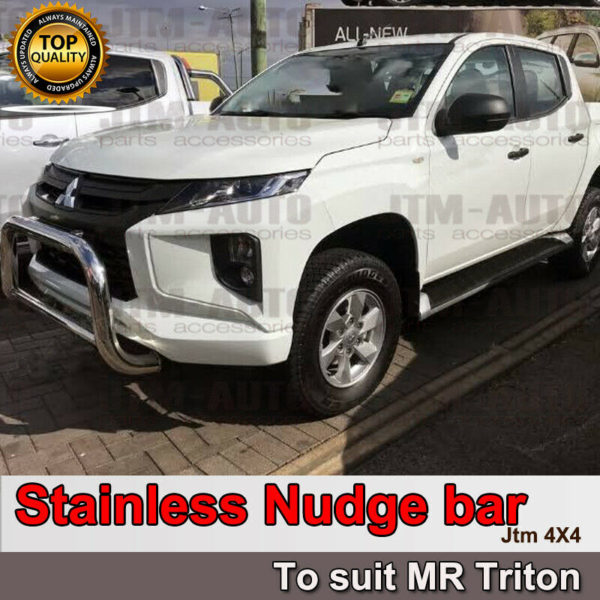 Brand new Stainless Steel Nudge Bar Grille Guard For Mitsubishi Triton MR 2018+