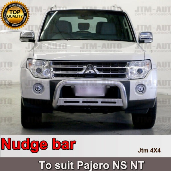 """Nudge Bar 3"""" Stainless Steel to suit Mitsubishi Pajero NS NT 2006-2011"""