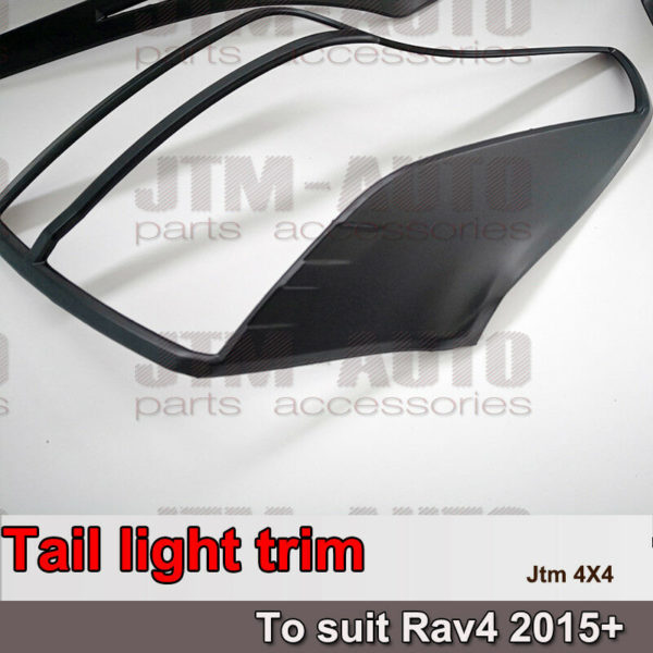 Black Tail Light Trim Cover Protector to suit Toyota Rav4 2015-2018