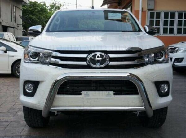 "Sandy Matte Black Nudge Bar 3"" Grille Guard to suit Toyota Hilux 2015-2020"