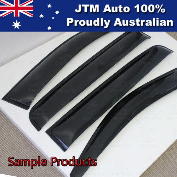 Bonnet Protector + Window Visors Weather Shields to suit 2015-2020 Toyota Hilux