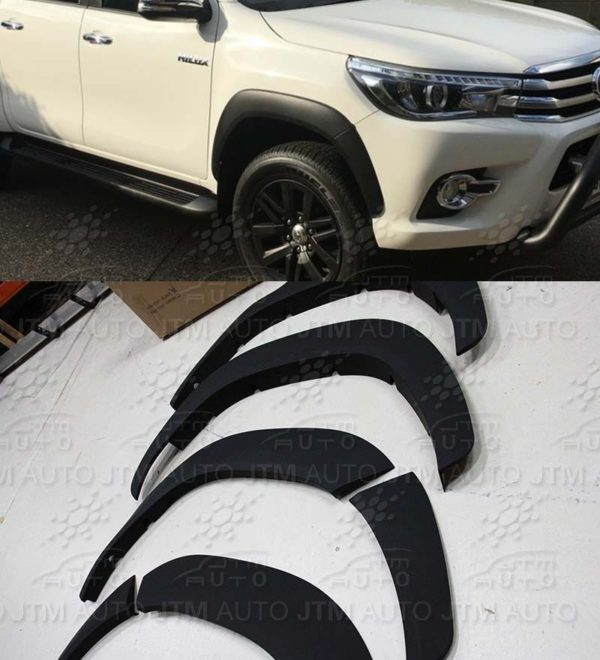 4 Door Fender Flares Wheel Arch Suitable For Toyota Hilux Rugged X 2015-2020
