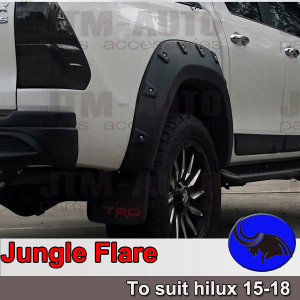 Jungle Fender Flares Wheel Arch Pocket Style to suit Toyota Hilux 2015-2018