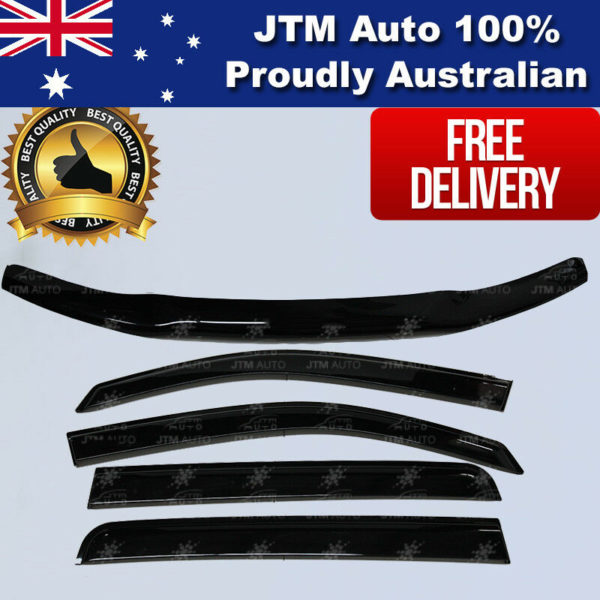 Bonnet Protector + Window Visor Weather Shield to suit Toyota Hilux 2011-2015