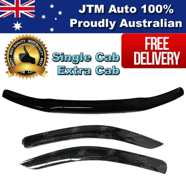 Bonnet Protector + Weathershields to suit Toyota Hilux Single / Extra 2005-2011