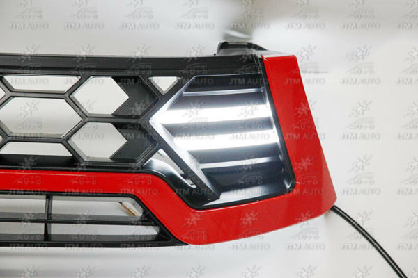 LED DRL Front Red Grill Grille to suit Toyota Hilux Workmate SR SR5 2015-2018