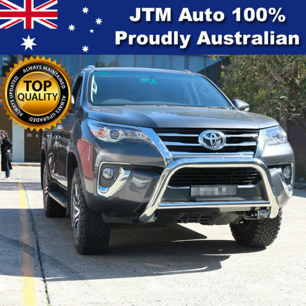 """Nudge Bar 3"""" Stainless Steel Grille Guard to suit Toyota Fortuner 2015-2020"""