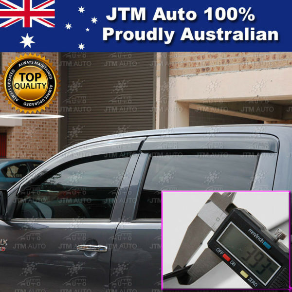 Injection Weather Shield Window Visors weathershield to suit Toyota Hilux 05-15