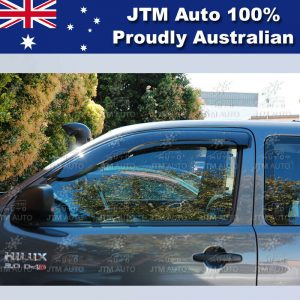 Weather Shields Window Visors Weathershields to suit Hilux Extra cab 2005-2014