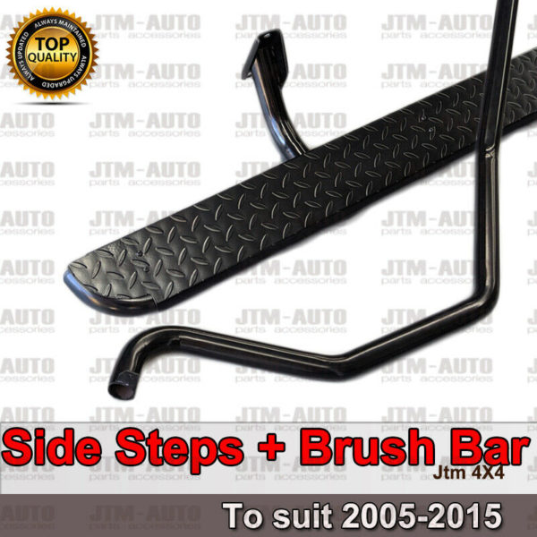 Clearance Heavy Duty Side Steps & Brush Bars to suit Toyota Hilux 2005-2015