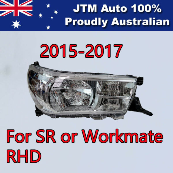 Premium RHS Head Lights To Suits Toyota Hilux SR Workmate 2015-2019