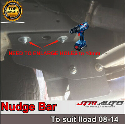 Black Steel Nudge Bar Grille Guard to suit Hyundai iLoad 2008-2014